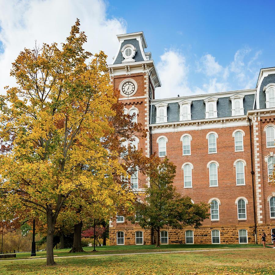 University Of Arkansas Historic Old Main In The Fall Photograph
