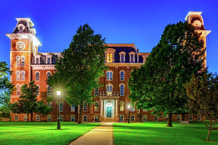 University Of Arkansas Old Main Building At Dusk Photograph