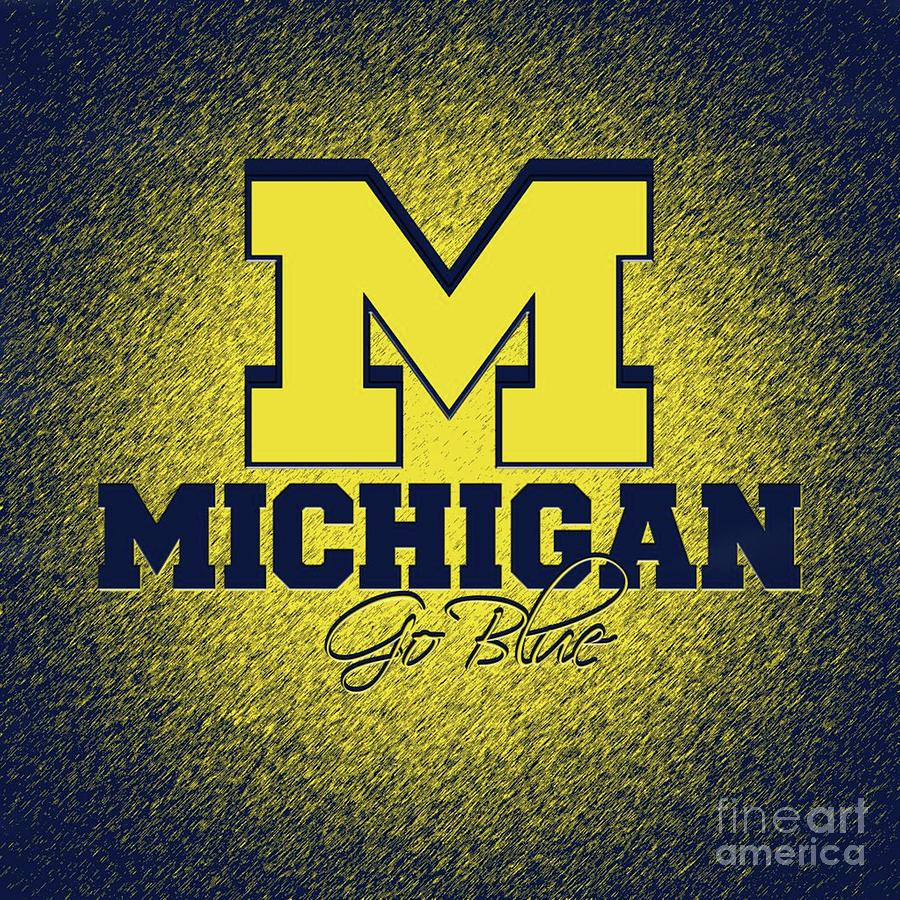 university of michigan wolverines mixed media by michael stout university of michigan wolverines by michael stout