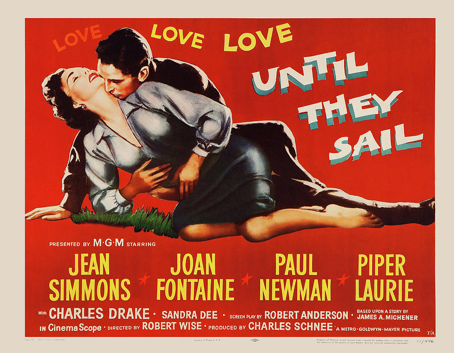 until They Sail, With Jean Simmons And Paul Newman, 1957 Mixed Media