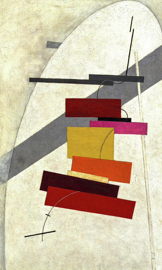 El Lissitzky Painting - Untitled, 1919-1920 by El Lissitzky