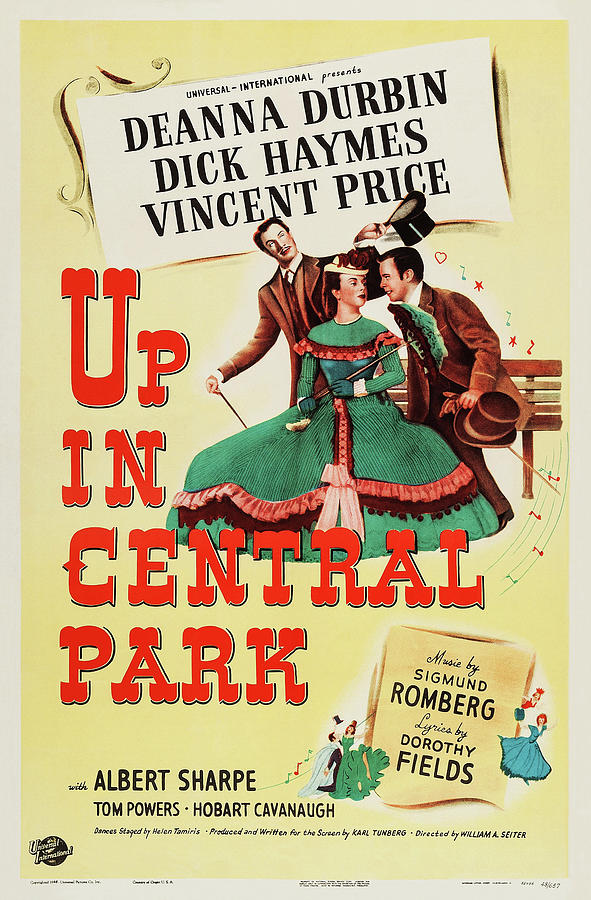up In Central Park, With Deanna Durbin, 1948 Mixed Media
