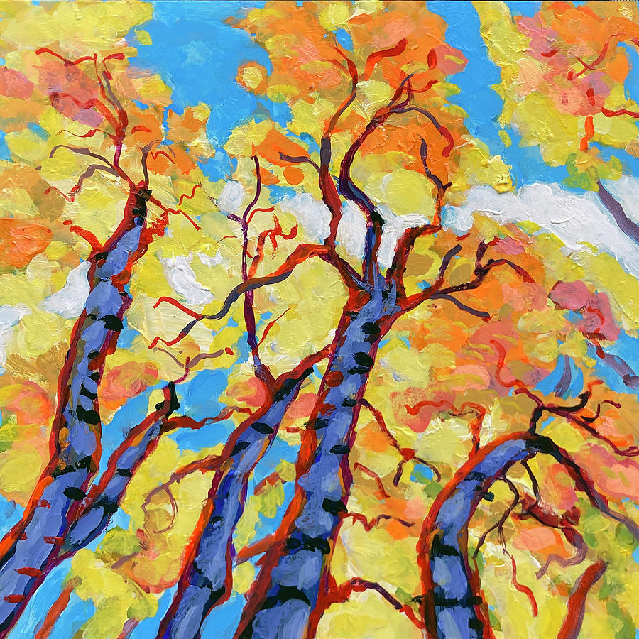 Up In The Aspen Grove Painting