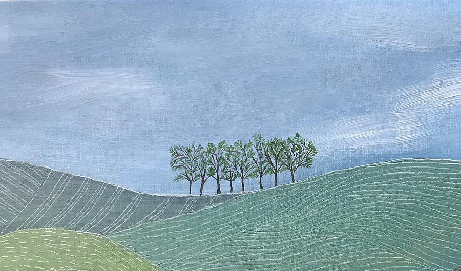 Uruguay Painting - Up on the horizon by Sabina Puppo