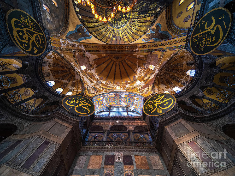 Up to the Nave Hagia Sophia Istanbul by Mike Reid