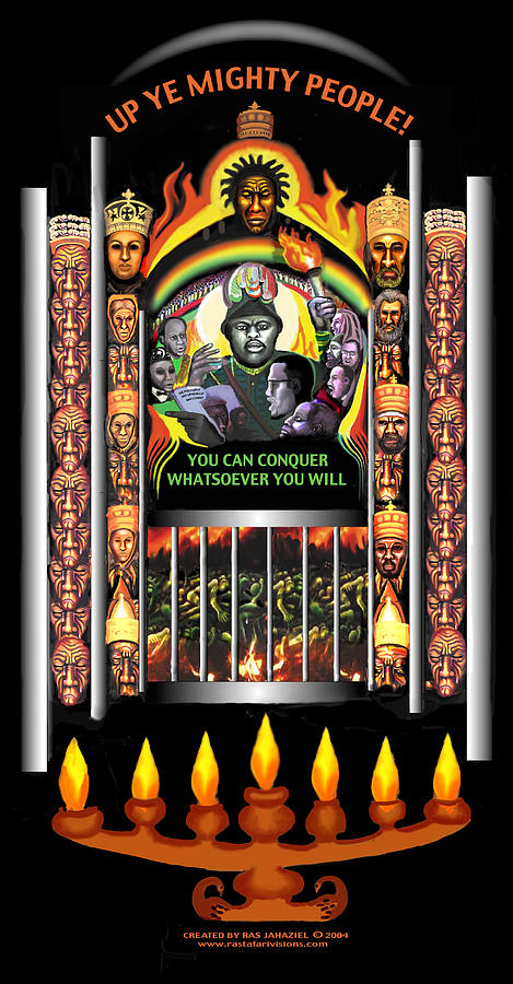 Marcus Garvey Painting - Up Ye Mighty People by Ras Tafari