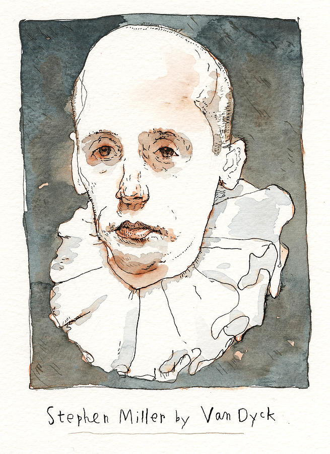Updates to the Trump Portrait Gallery Painting by Barry Blitt