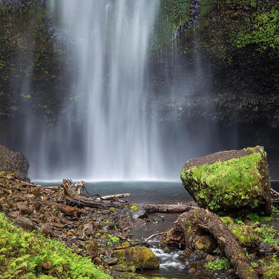 Upper Multnomah Falls Base by Adam Romanowicz