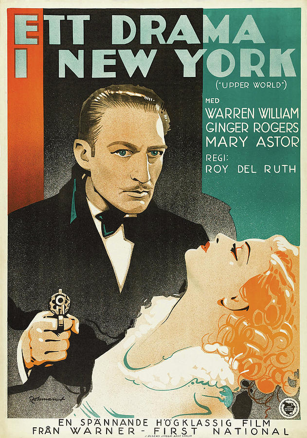 upperworld, With Warren William And Ginger Rogers, 1934 Mixed Media