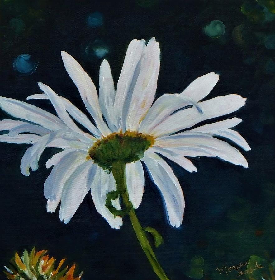 Flowers Painting - Ups A daisy by Monica Ironside