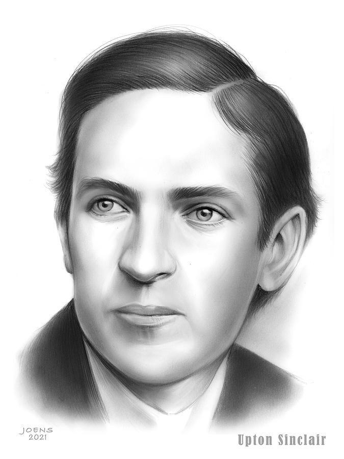Upton Sinclair Drawing - Upton Sinclair by Greg Joens