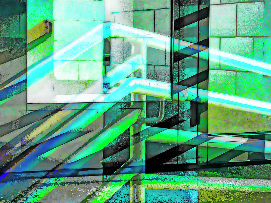 City Photograph - Urban Abstract 1202 by Don Zawadiwsky
