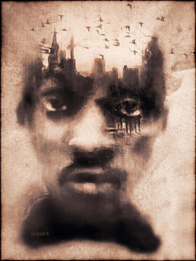 Digital Image Digital Art - Urban Mindset by Regina Wyatt