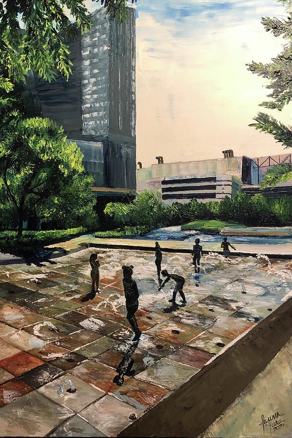 Kids Painting - Urban Playground by Lauren Luna