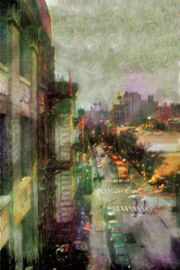 Urban Rain Digital Art