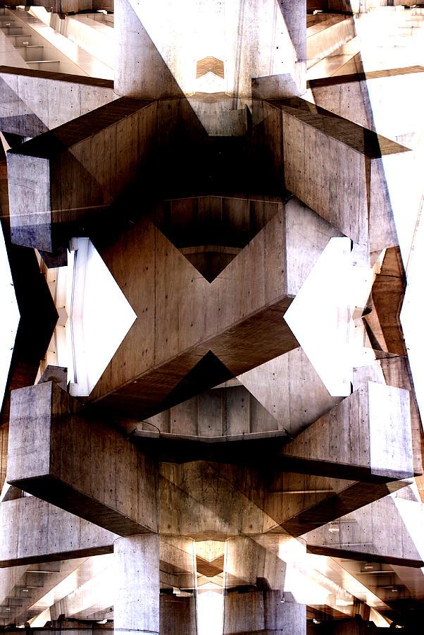 Abstract Digital Art - Urban temples 3 by Oscar Vago