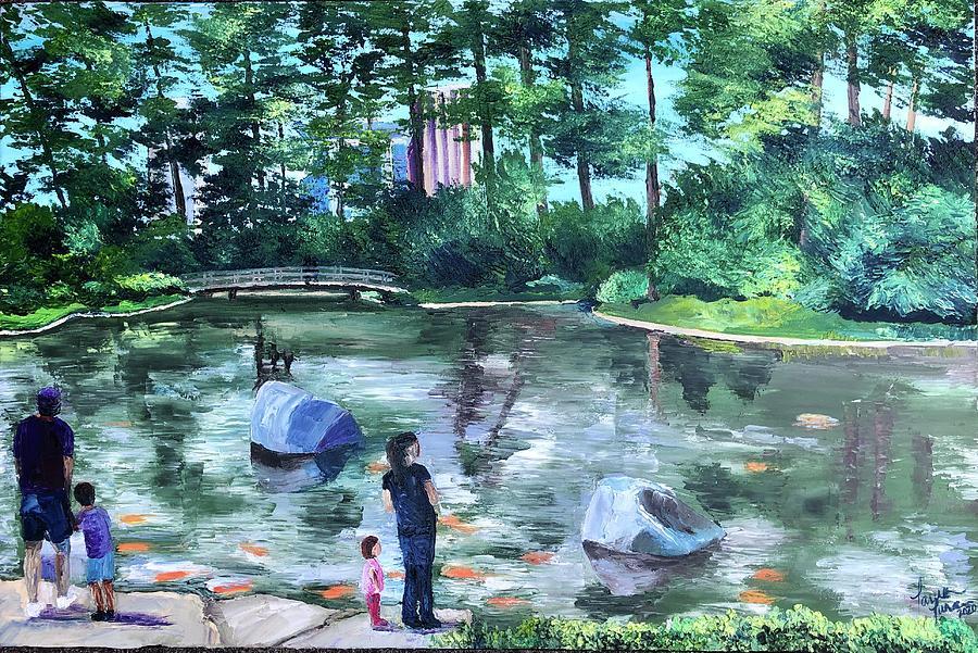 Japanese Garden Painting - Urban Tranquility by Lauren Luna