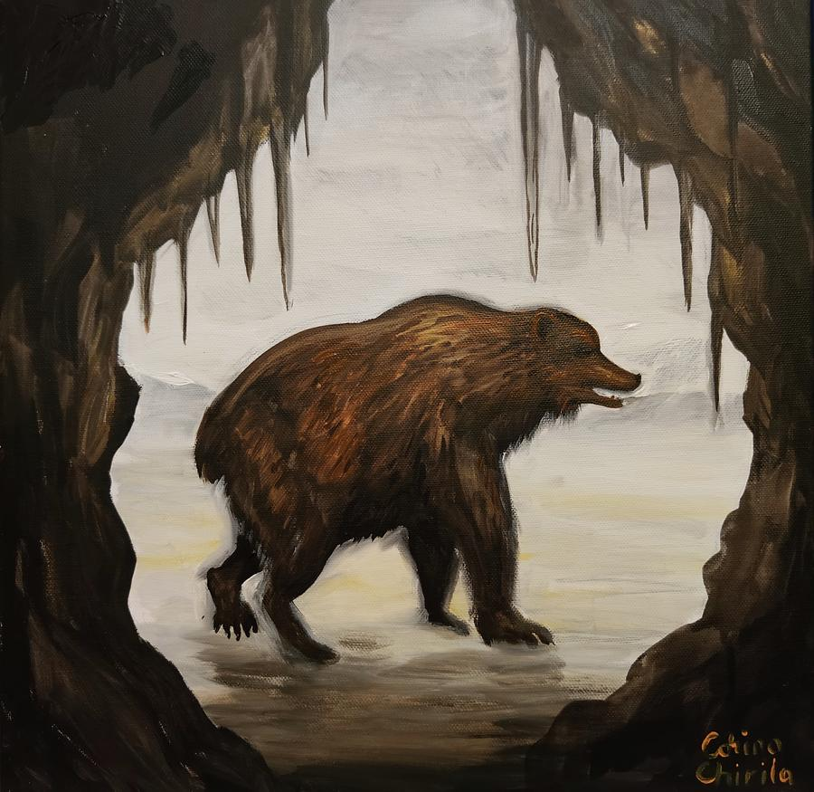 Ursus Spelaeus Painting - Ursus spelaeus or the cave bear by Chirila Corina