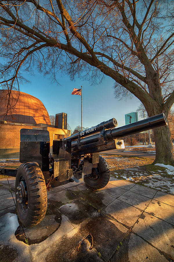 US Army Canon - Boston Esplanade by Joann Vitali