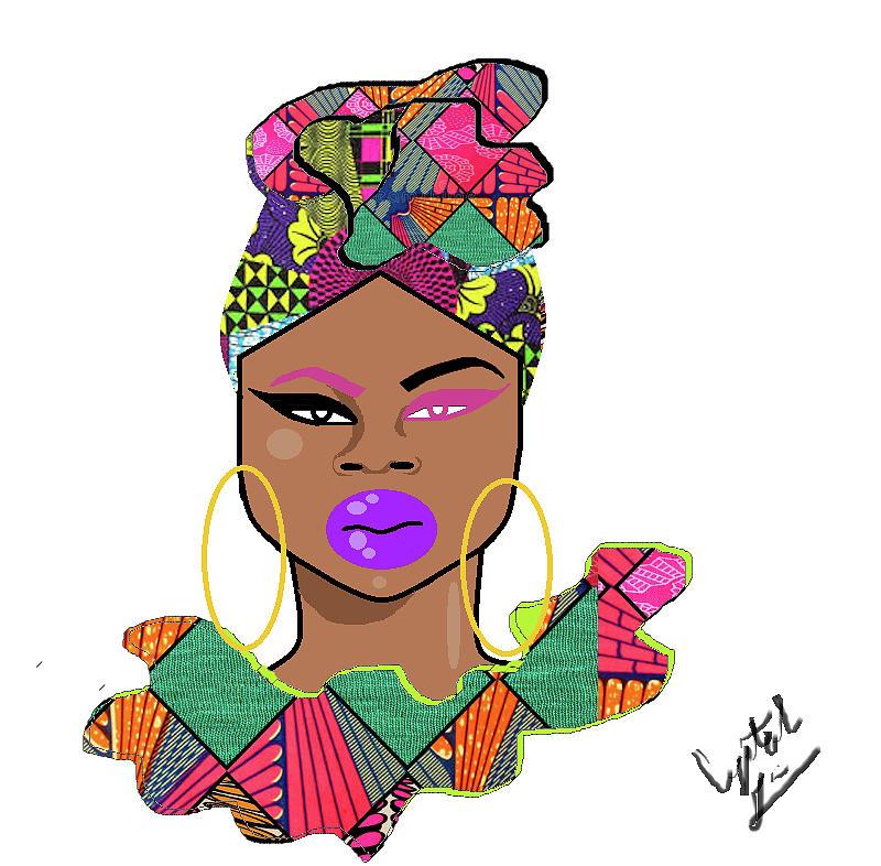 Black Girl Digital Art - U.s. by Crystal Guidry