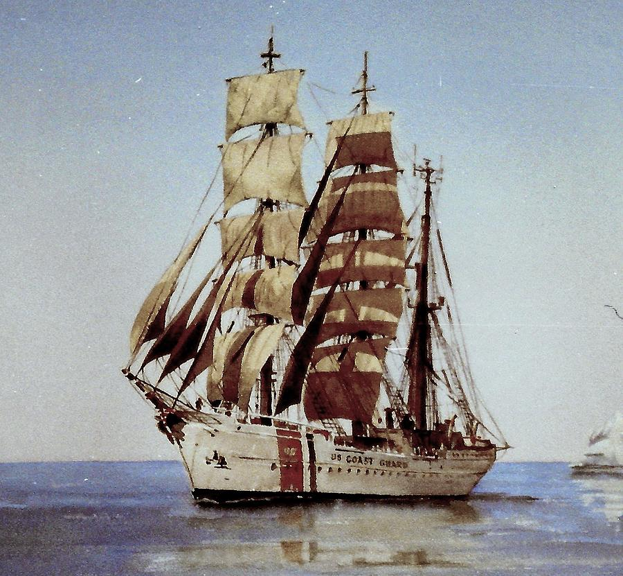 US Eagle , US navy tallship by Val Byrne
