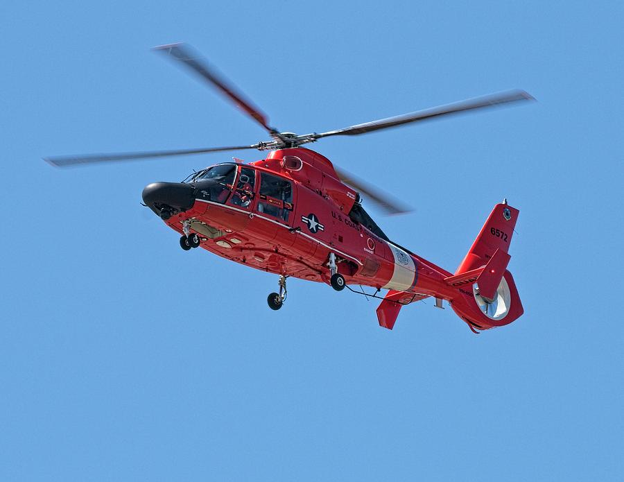 Helicopter Photograph - USCG Chopper by John Bates