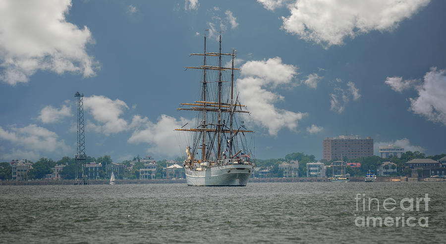 Uscg Eagle - Charleston South Carolina - Harbor Photograph