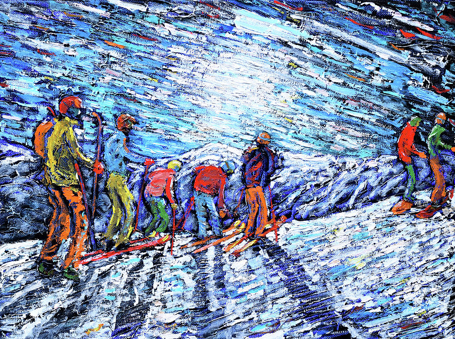 Val d'Isere Ski Print by Pete Caswell