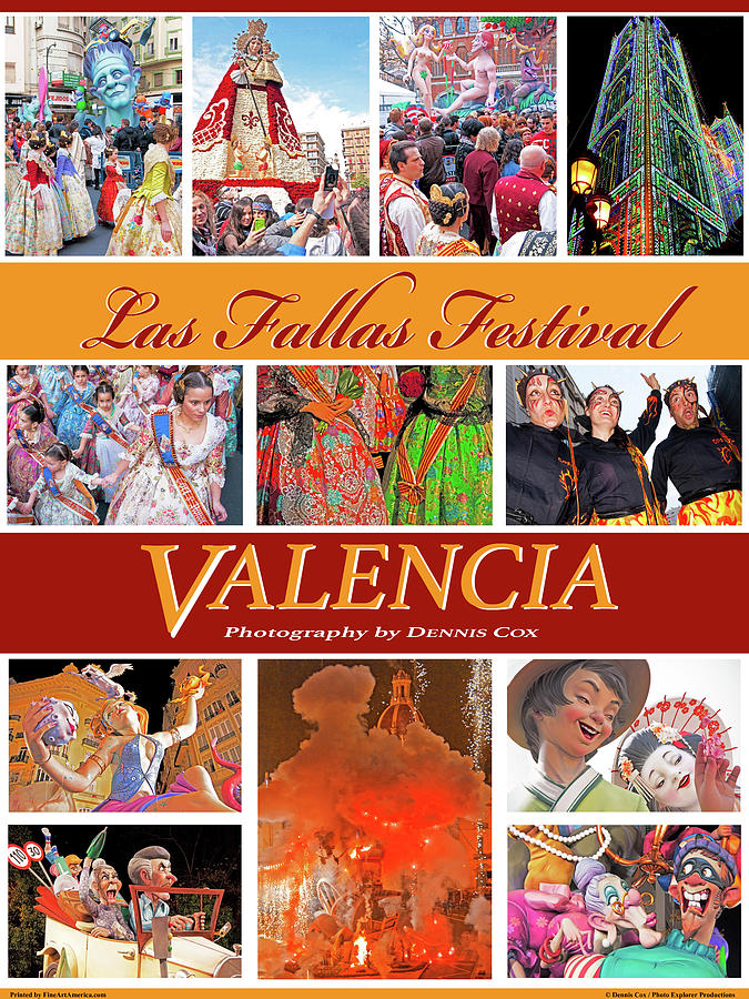 Valencia Travel Poster Photograph