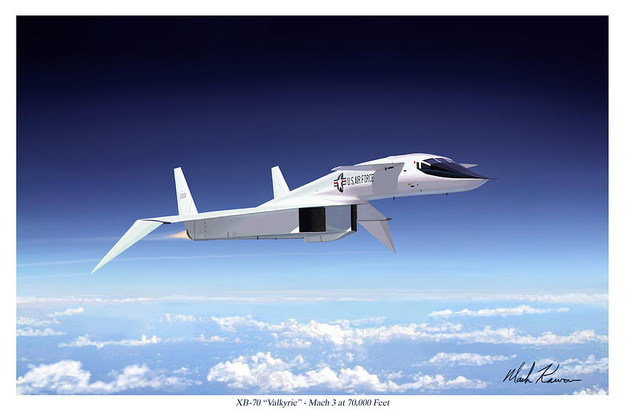 Aviation Painting - Valkyrie - Mach 3 At 70000 Feet by Mark Karvon