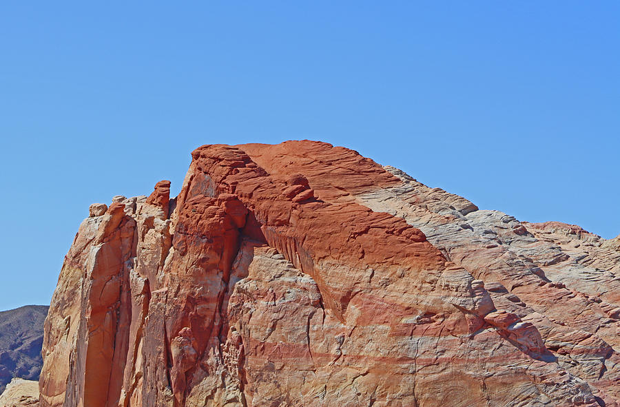 Valley Of Fire Nevada White And Red Rocks Blue Sky 2 3102020 0109 Photograph by David Frederick