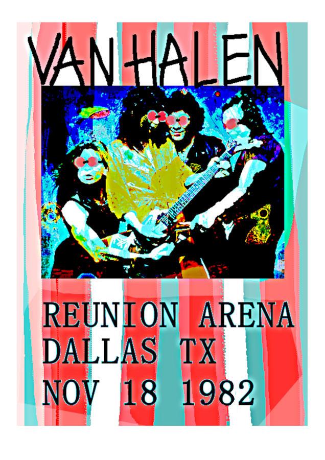 Van Halen Live in Dallas 1982  by Enki Art