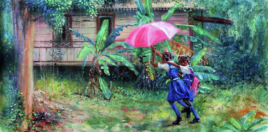Caribbean Painting - Van Ka Vante by Jonathan Guy-Gladding JAG