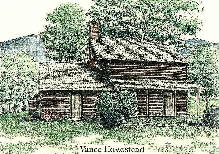 Vance Birthplace Drawing - Vance Birthplace by Lee Pantas