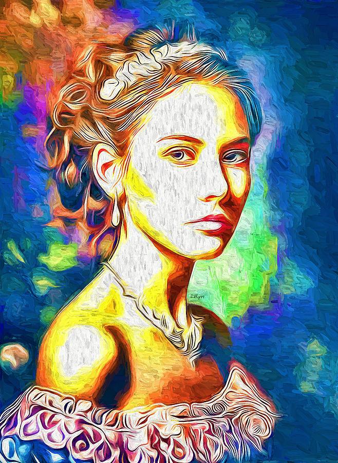 Vanesa Portrait 3 Painting