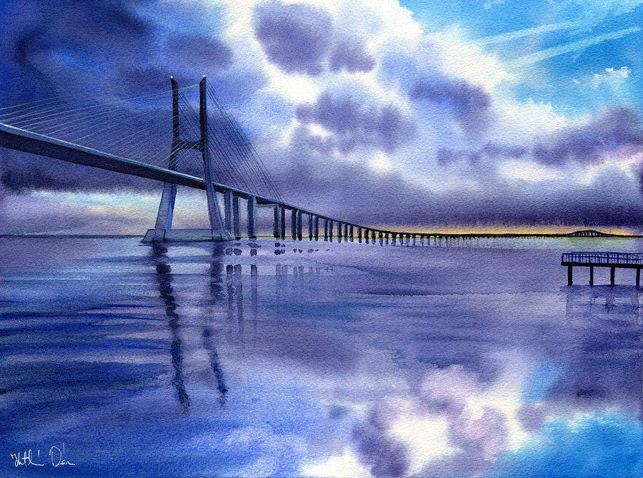 Vasco Da Gama Bridge in Lisbon by Dora Hathazi Mendes
