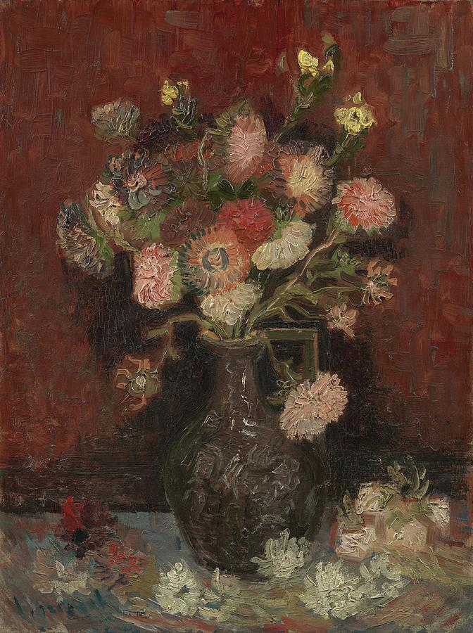 Vase With Chinese Asters And Gladioli Paris August  September 1886 Vincent Van Gogh 1853  1890 Painting