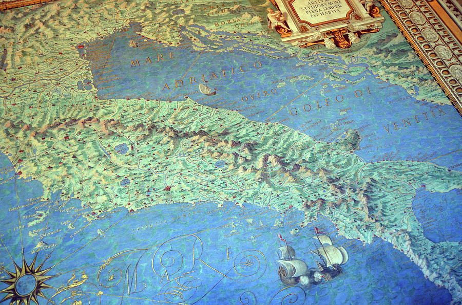 Vatican Museums Maps Room Renaissance Italy Fresco Detail by Shawn O'Brien