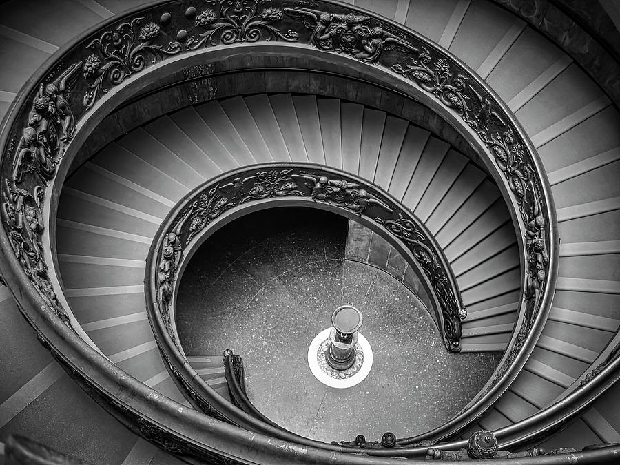 3scape Photograph - Vatican Stairs by Adam Romanowicz