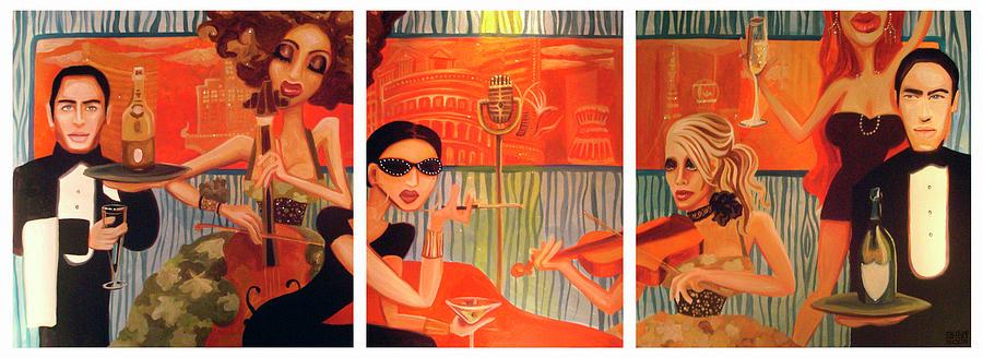 Vegas Nights Painting - Vegas Nights 2 by Nick San Pedro