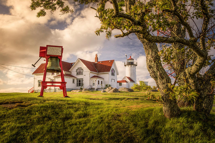 Verdant Fall at Eastern Point Lighthouse by Thomas Gaitley
