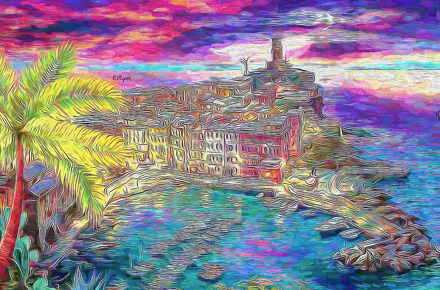 Vernazza - Magic Sunset Painting