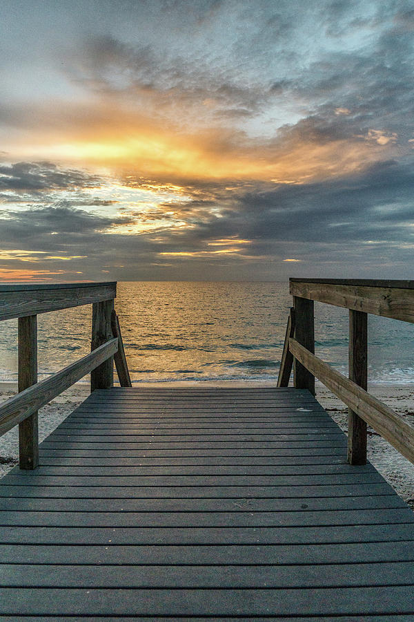 Landscape Photograph - Vero Beach Sunrise by Bob Bernier