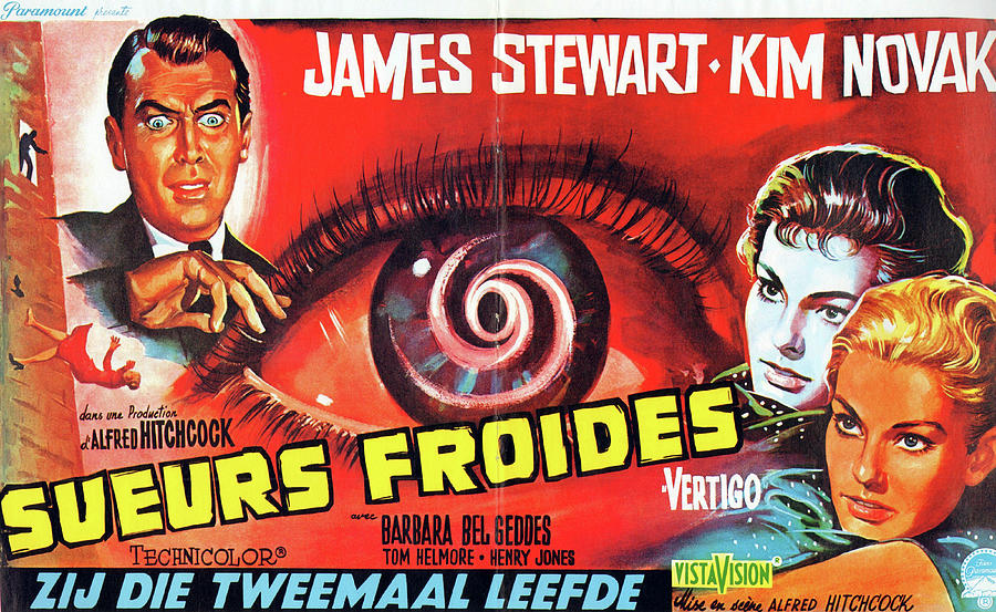 vertigo,with James Stewart And Kim Novak, 1958 Mixed Media