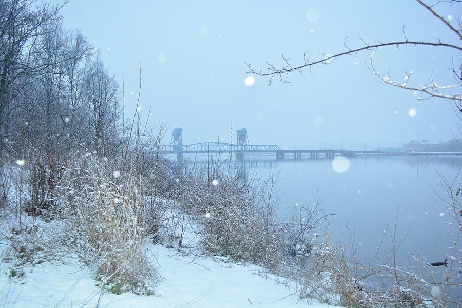 Bluebridge Photograph - Very Blue Bridge by YHWHY Vance