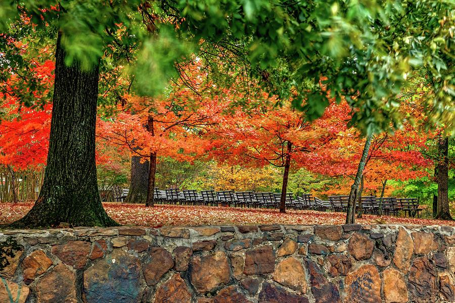 Vesper Point Autumn Landscape On Mount Sequoyah - Fayetteville Arkansas Photograph