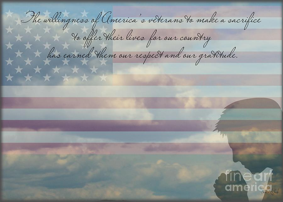 Veteran's Day Digital Art - Veterans Day by Sandra Clark