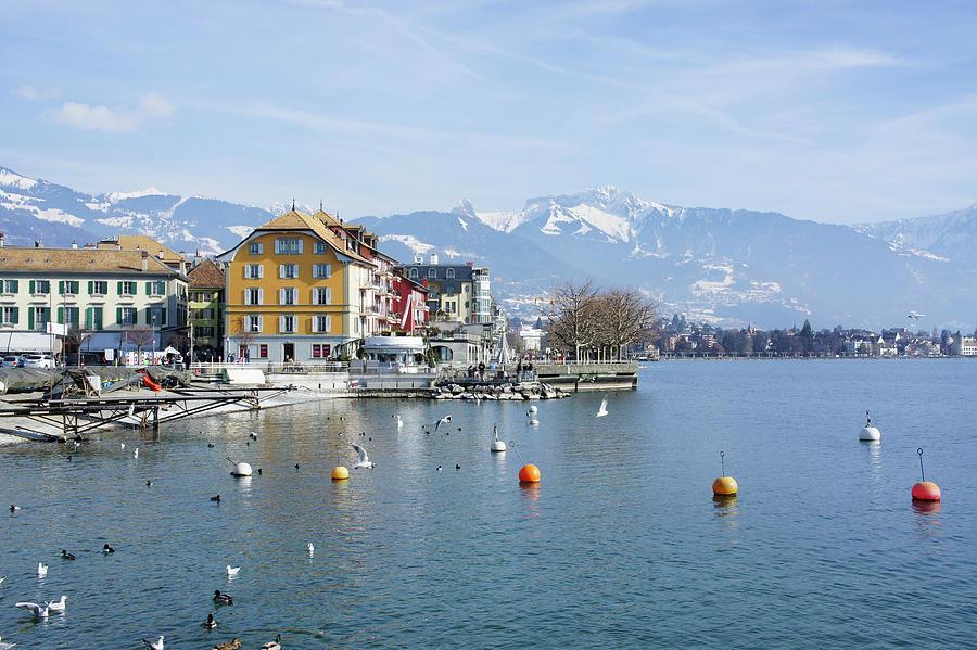 Vevey on the lake Geneva in Switzerland by Santosh Puthran
