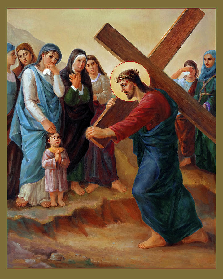 Via Dolorosa Painting - Via Dolorosa - Daughters Of Jerusalem - 8 by Svitozar Nenyuk
