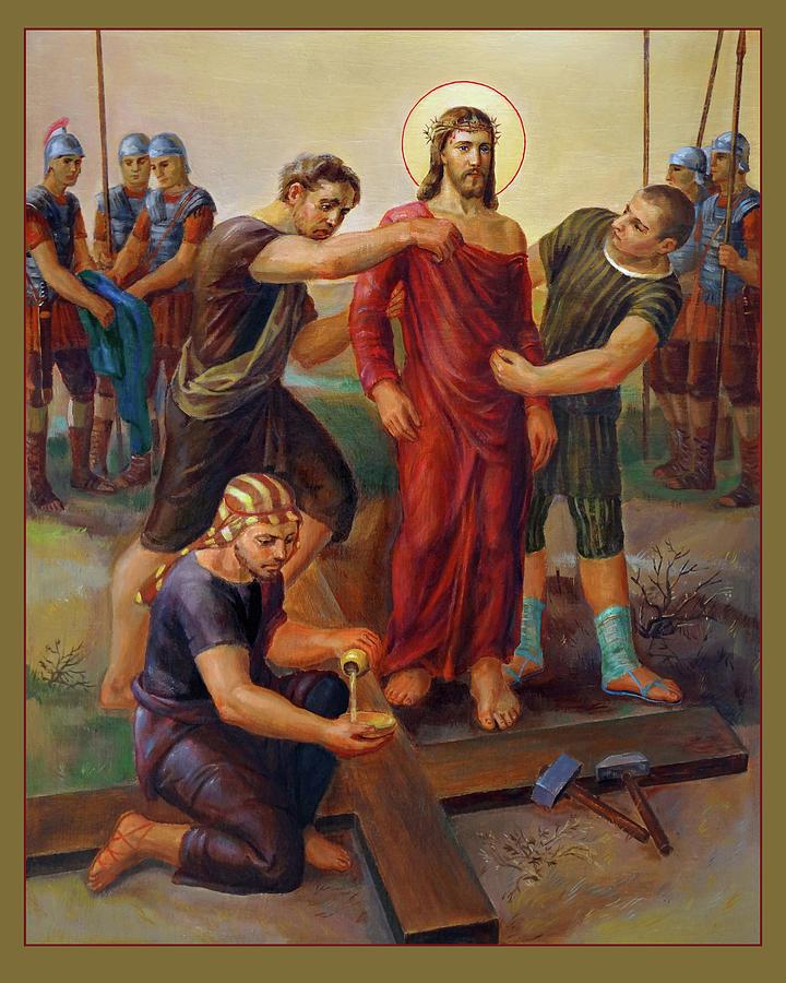 Amen Painting - Via Dolorosa - Disrobing Of Christ - 10 by Svitozar Nenyuk